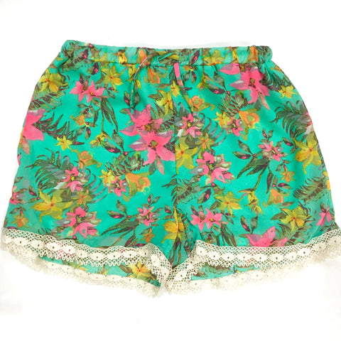 Watercolor Floral Shorts, , sale, Bayberry Co. - 1