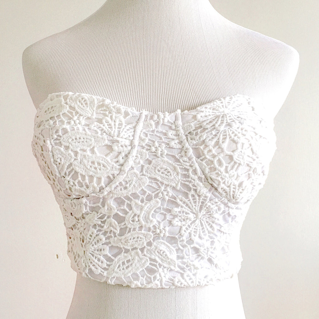 Isabelle Crochet Crop Top, , sale, Bayberry Co. - 1