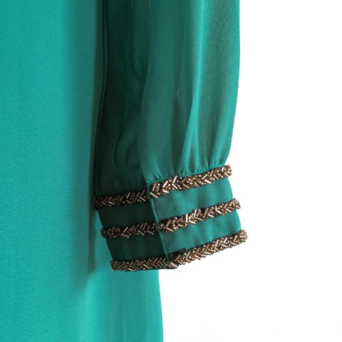 Sabra Embellished Dress - Green, , sale, Bayberry Co. - 3