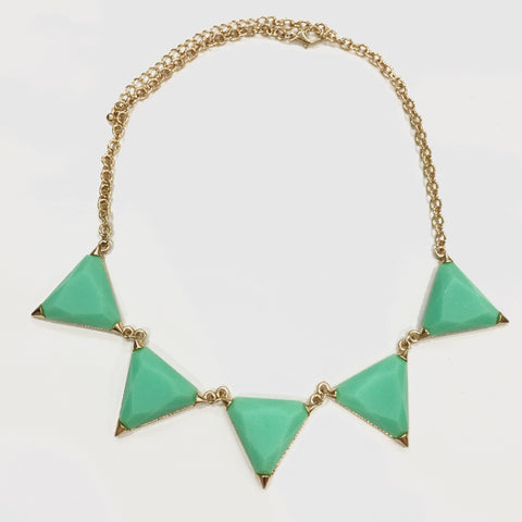 Hailee Triangle Necklace - Mint, , sale, jewelry, Bayberry Co. - 2