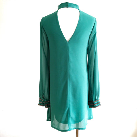 Sabra Embellished Dress - Green, , sale, Bayberry Co. - 2