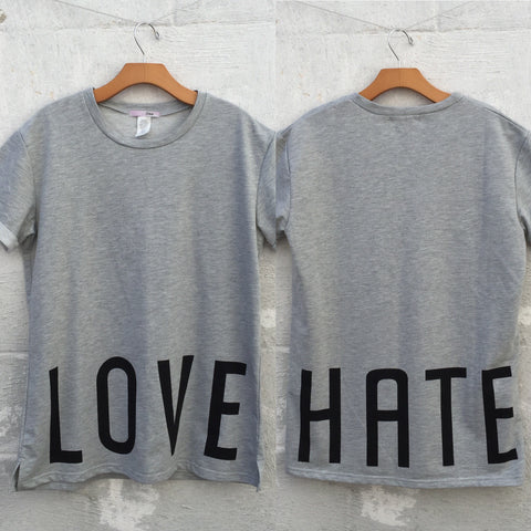 Love Hate Oversized Tee, , sale, Bayberry Co. - 1