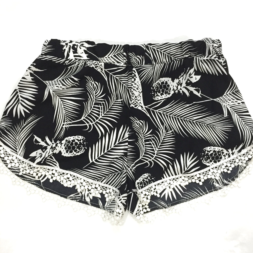 Pineapple Leaf Shorts, , sale, Bayberry Co. - 1