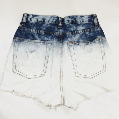 Velencia Distressed High Waisted Shorts, , Sale, Bayberry Co. - 2