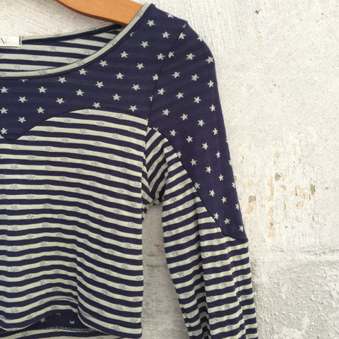 Stars and Stripes Crop Top - Blue, , sale, Bayberry Co. - 3