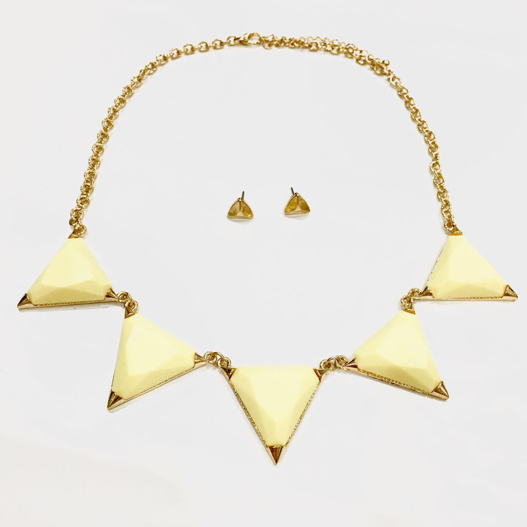 Hailee Triangle Necklace - Yellow, , sale, jewelry, Bayberry Co. - 1