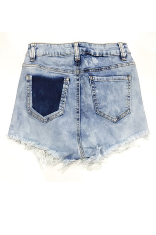 Jeannine High Waisted Shorts - Light Acid Wash, , Bottoms, Bayberry Co. - 2