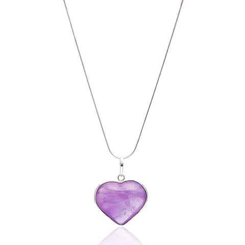Ametist Kalp Kolye <br> Amethyst Heart Shape Necklace