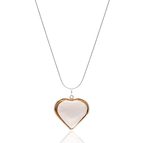 Dumanlı Quarts Kalp Kolye <br> Smoky Quarts Heart Shape Necklace