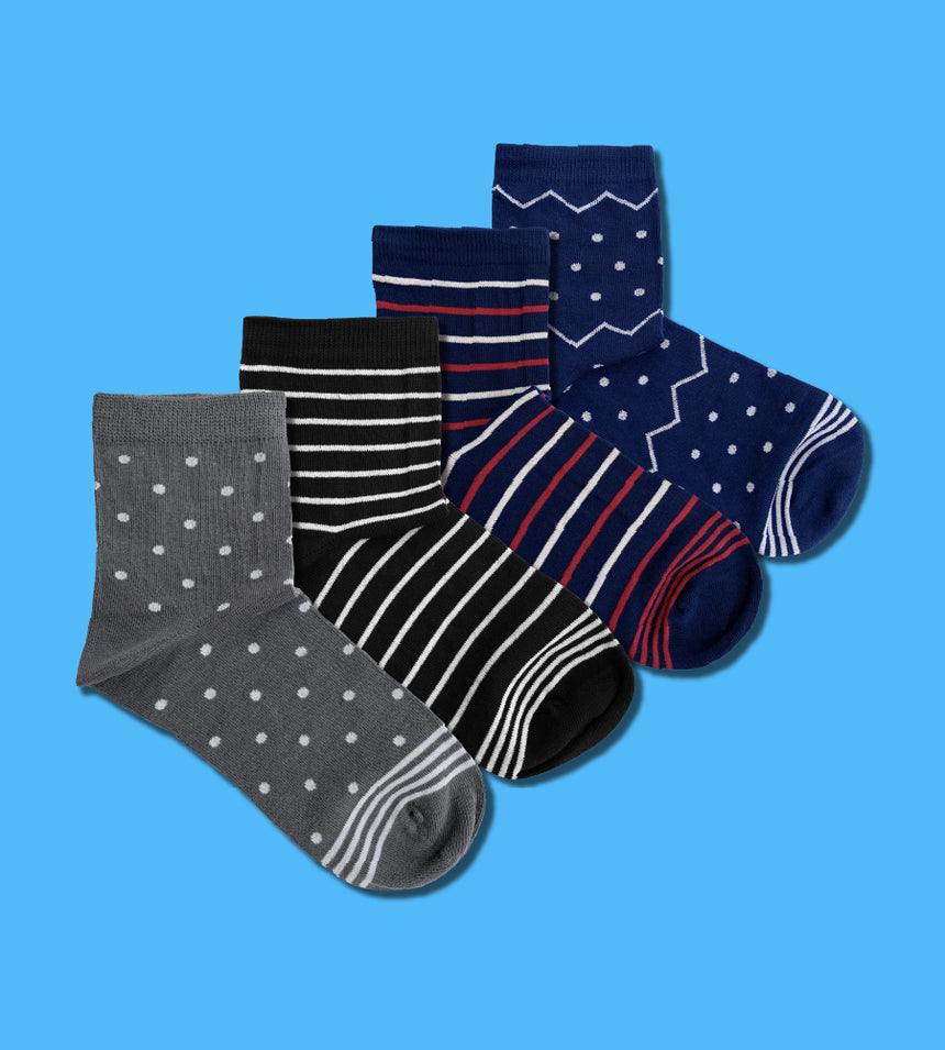Dots & Stripes (4-Pack)