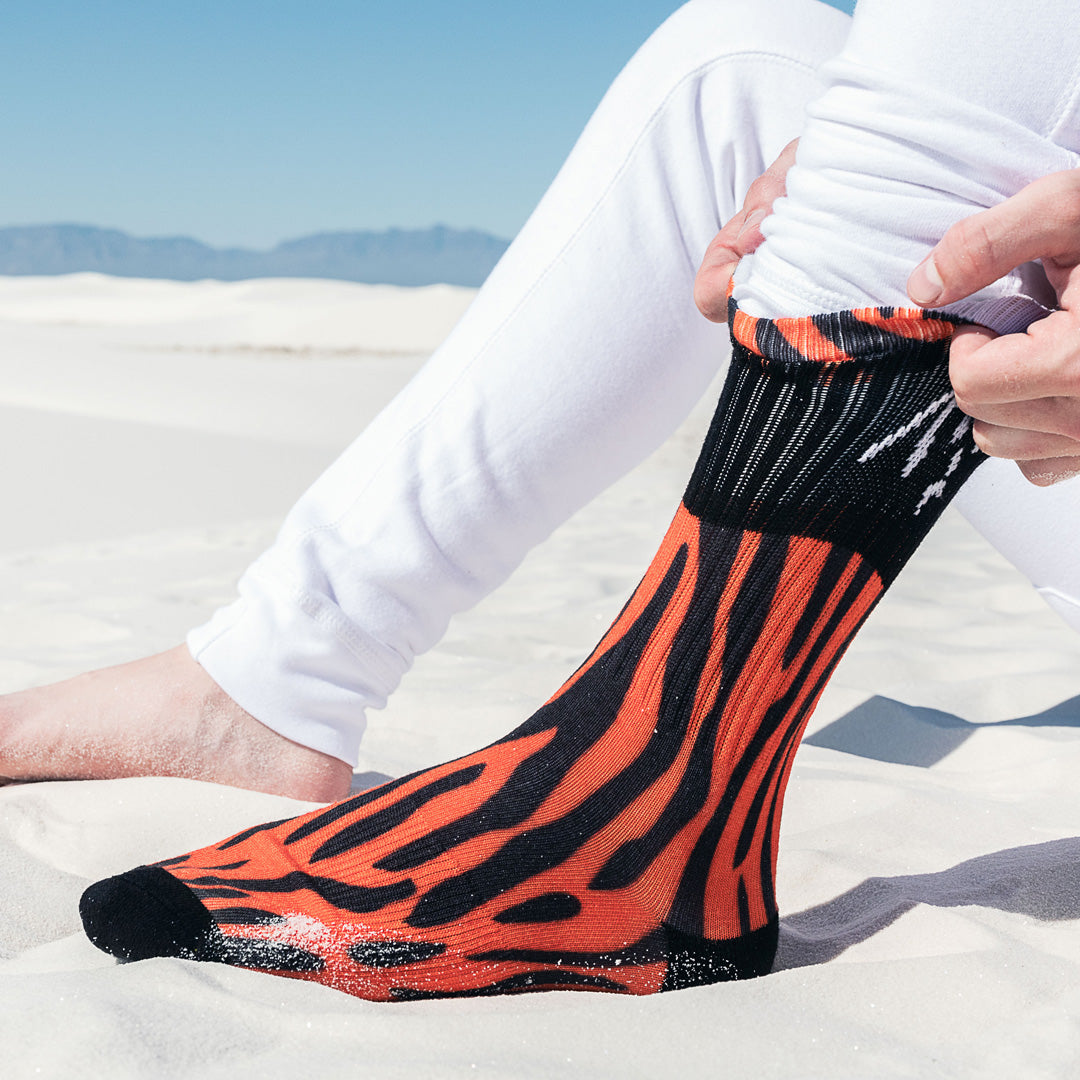 Tiger Striped Claw Socks