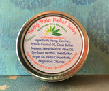Hemp Pain Relief Salve with Argan Oil, Comfrey, Arnica and Magnesium
