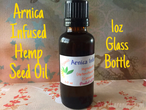 Arnica Infused Hemp Oil