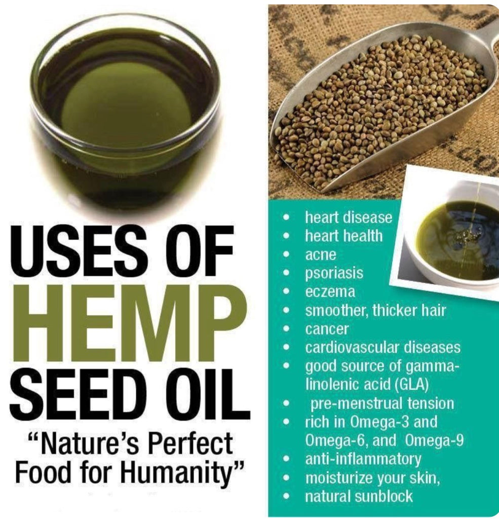 100% Pure Organic Cold-Pressed Hemp Seed Oil