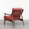 Adam Mid century modern chair, solid Walnut, Hand crafted by Gingko