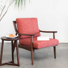 Adam Mid century modern chair, solid Walnut