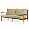 Adam Mid Century Modern Sofa, Mineral, Medium Walnut