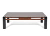 Walnut Coffee Table; Contrasting Black Leg, Contemporary Design