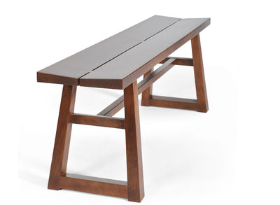Hand-crafted solid walnut bench; Mission style, exposed dove-tail joints, clean contemporary lines