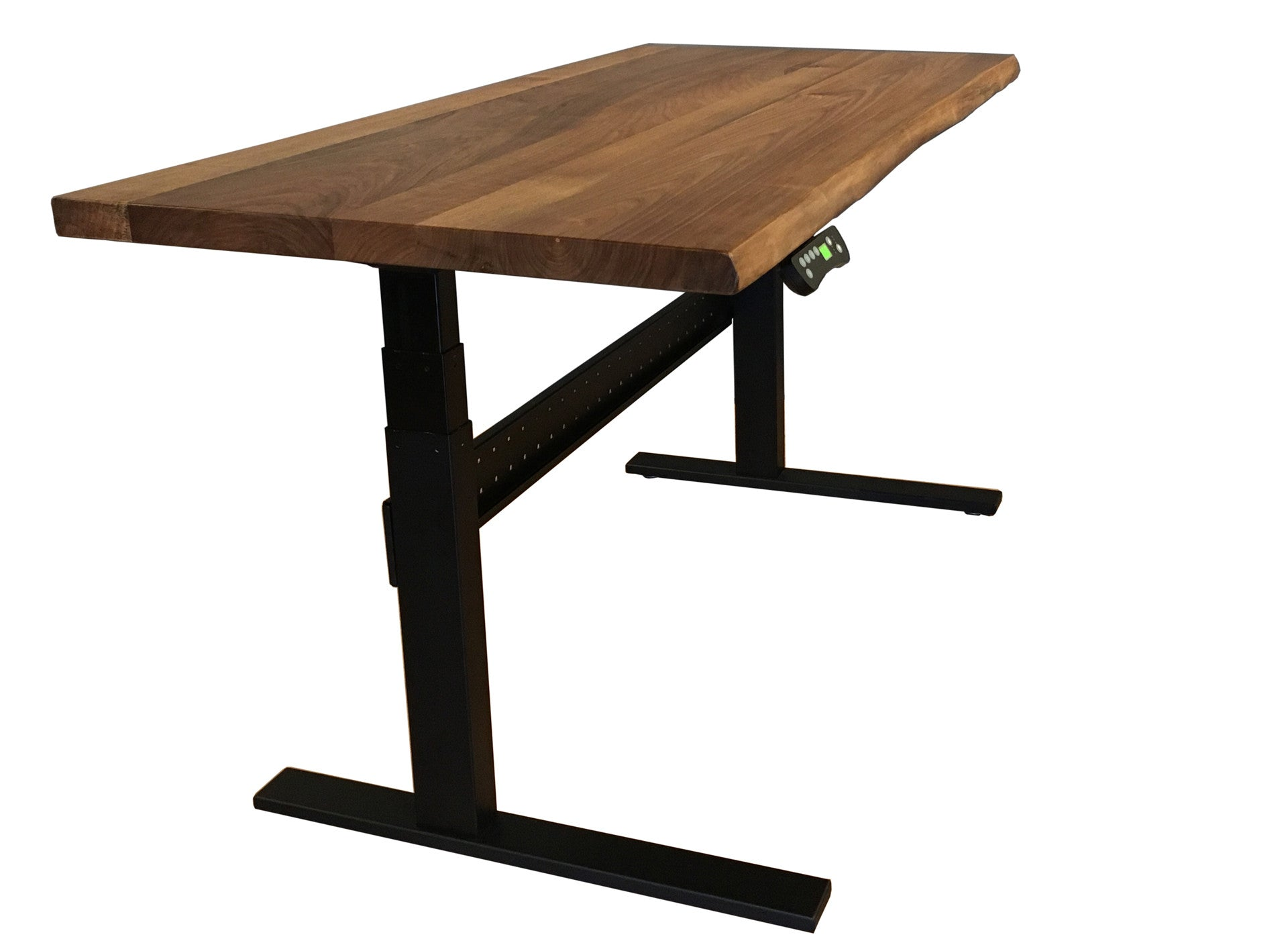 Adjustable height desk stand sit desk motorized with memory settings