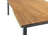 George Dining Table, Live Edge Walnut Top, Black Steel Legs