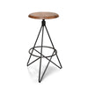 Hudson Walnut and Steel Bar Stool
