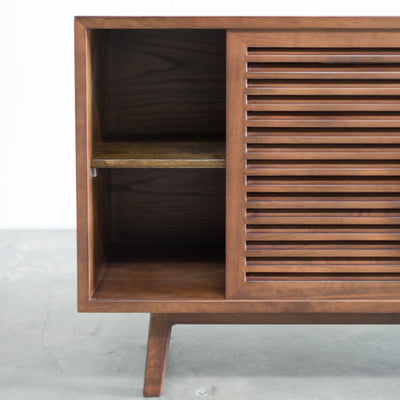 Lewis Mid century modern buffet, solid Walnut, Hand crafted by Gingko