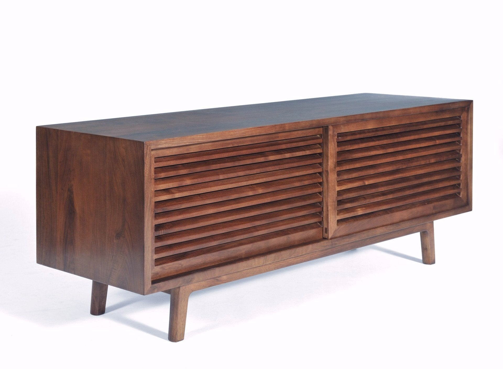Picture of: Lewis Solid Walnut Mid Century Modern Tv Cabinet Gingko Gingko Home Furnishings