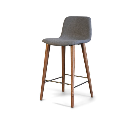 Mackay Modern Bar Stool with Walnut Legs