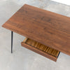Metro Desk, Medium Walnut with Hairpin Legs