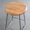 Nelson Counter Stool, Natural Walnut Seat