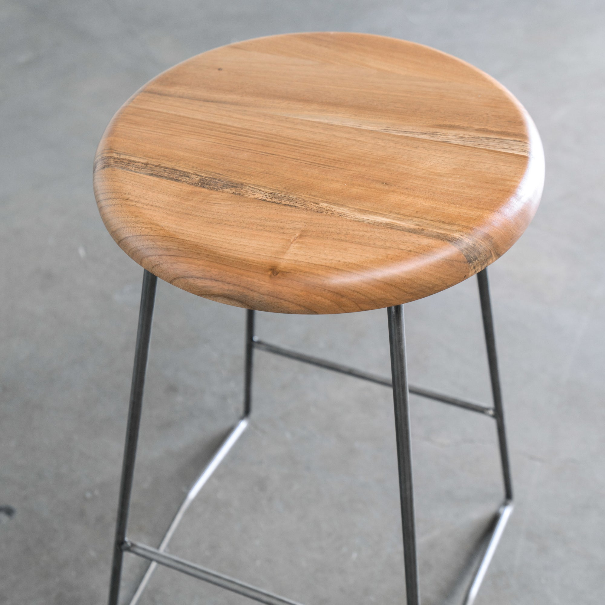 Mid Century Counter Stools Part - 46: Nelson Counter Stool, Natural Walnut Seat