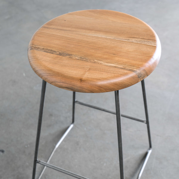Nelson Mid Century Modern Counter Stool In Walnut Gingko