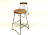 Nelson Walnut Counter Stool, Set of 2