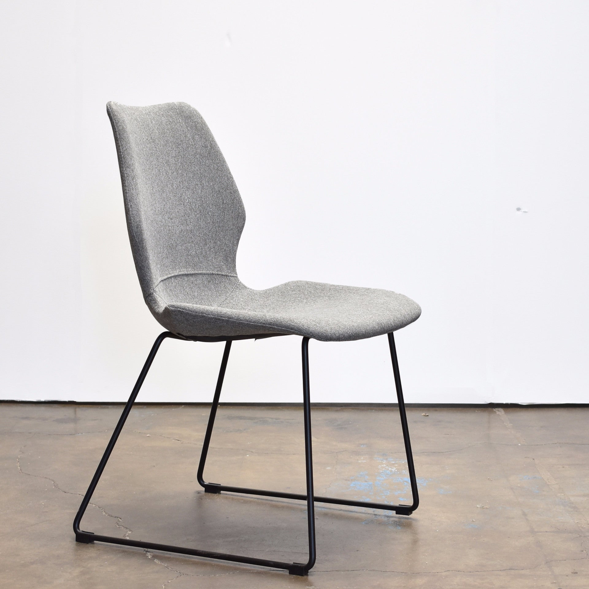 Miraculous Nina Modern Dining Chair Light Grey Fabric Black Base Andrewgaddart Wooden Chair Designs For Living Room Andrewgaddartcom