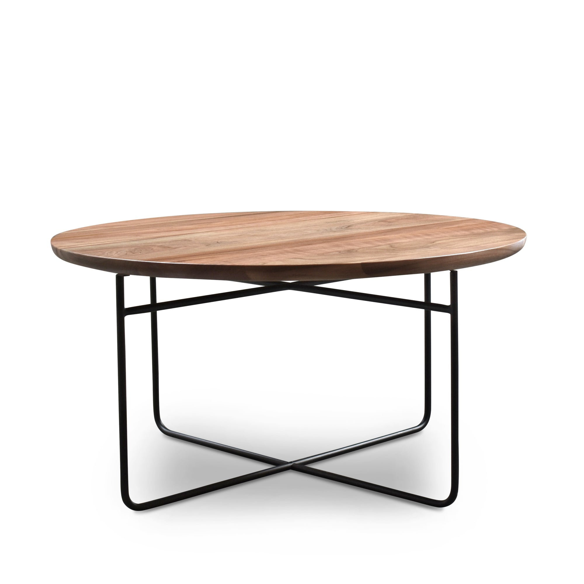 Omar Round Walnut Coffee Table