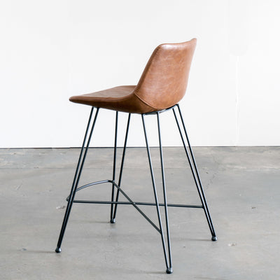 Odette Counter Stool, Chestnut Brown
