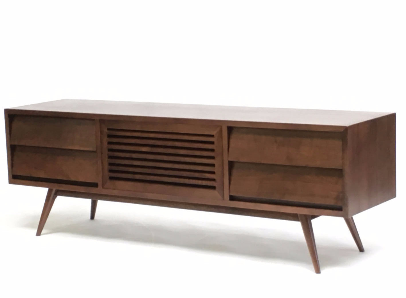 Picture of: Oslo Solid Walnut Mid Century Modern Tv Cabinet Gingko Gingko Home Furnishings