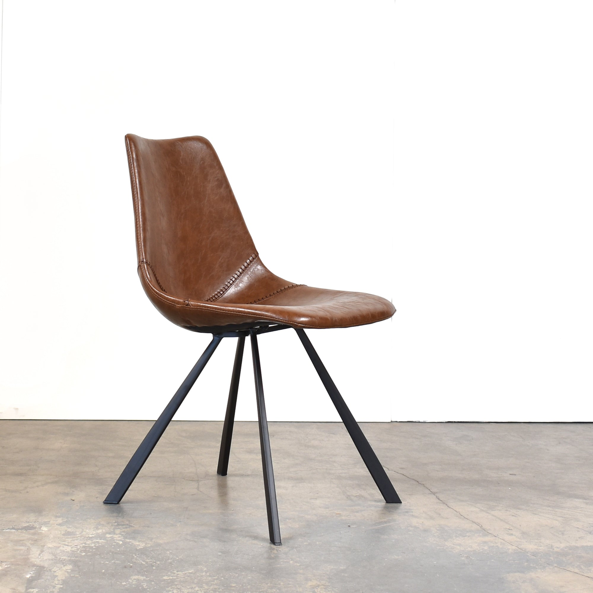 Pablo Mid Century Modern Dining Chair, Brown