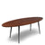 Walnut Mid Century Surfboard Coffee Table