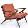 Zach Walnut Mid Century Lounge Chair