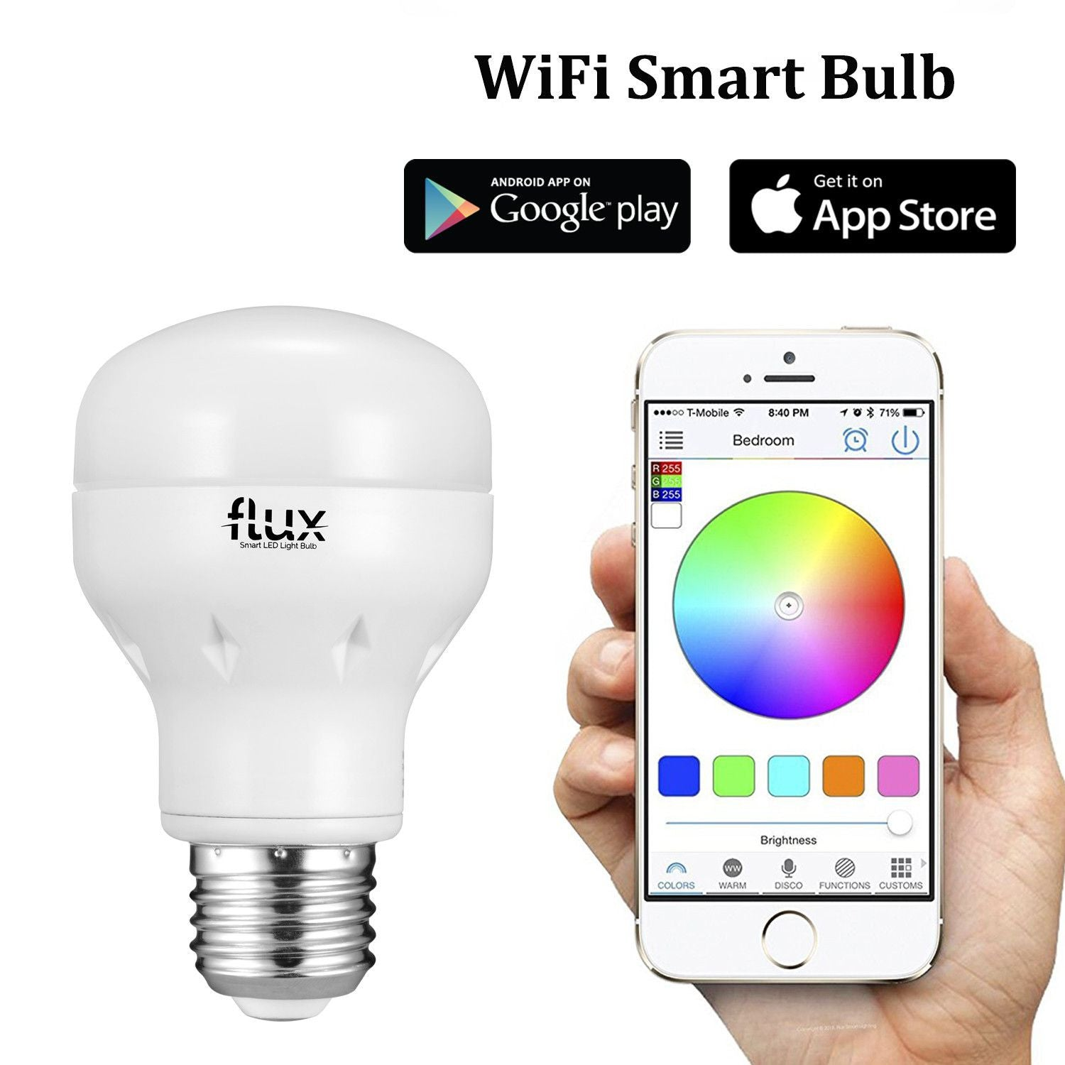 WiFi Smart LED Light Bulb, 2nd Generation   Works With Amazon Alexa    Multicolor Dimmable Wireless Lighting