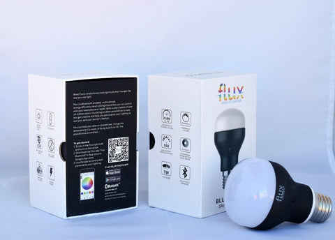 FluxSmart Bluetooth Smart LED Light Bulb, 2nd Generation - Multicolor Dimmable Wireless Lighting