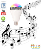 FluxSmart Melody - Bluetooth Smart LED Light Bulb With Speaker - Smartphone Controlled Dimmable Smart LED Lights