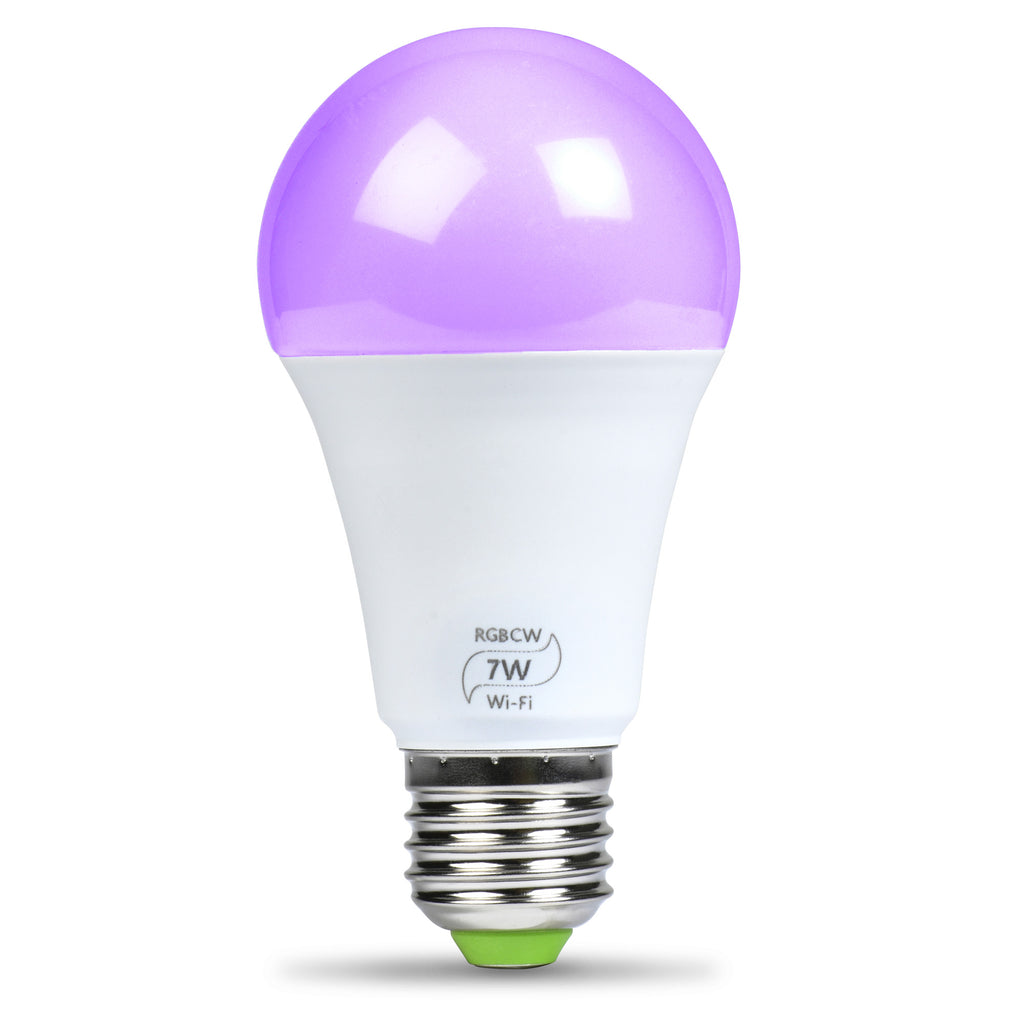 Flux WiFi Smart LED Light Bulb - Compatible with Alexa, Google Home Assistant & IFTTT - Smartphone Controlled Multicolored Color Changing Lights - Sunrise Wake Up Light & Dimmable Night Light