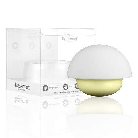 FluxSmart Tap Portable LED Night Light - Tap to Change Color, Battery Operated and BPA-Free
