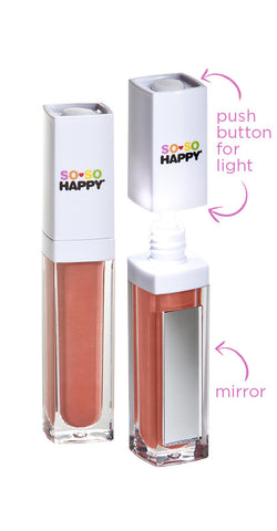 SO SO Happy <br> Natural and Organic <br> Lip Gloss