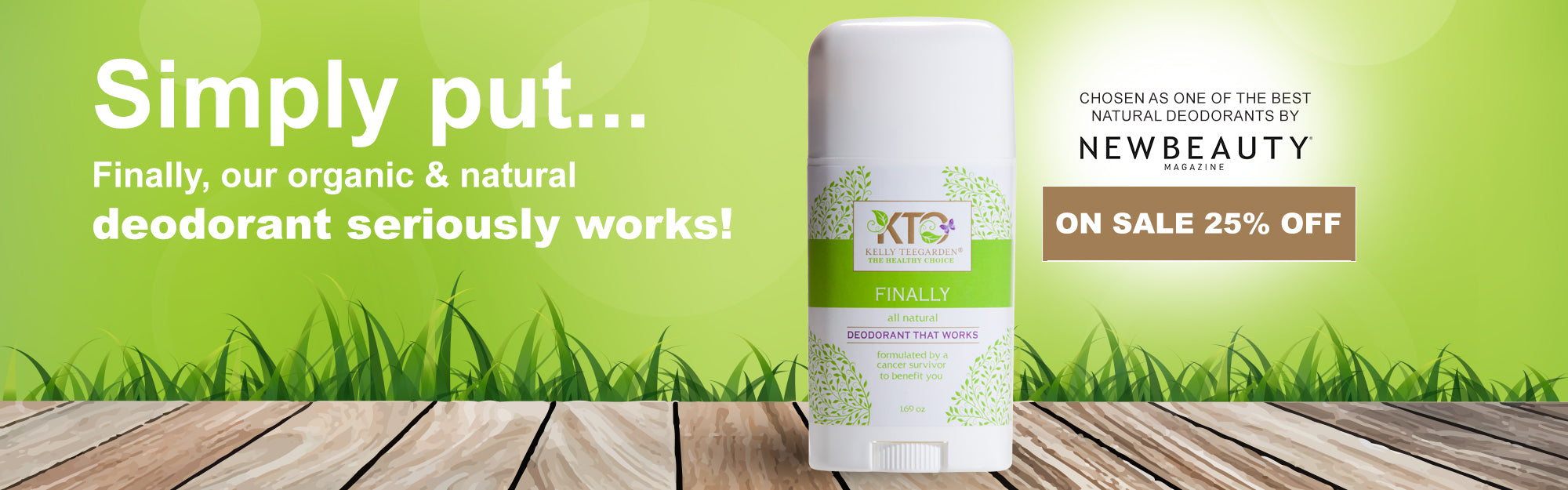 Organic and Natural Deodorant that actually works