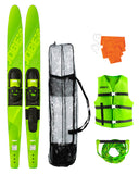 "Allegre 59"" Combo Skis Lime Green Package"
