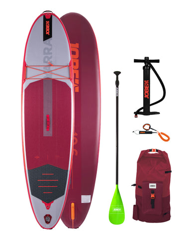 JOBE YARRA 10.6 INFLATABLE PADDLE BOARD PACKAGE RED